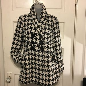 Jolt M Houndstooth Updated Pea  Black/White Coat